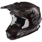 Matte Black/Charcoal Blade Clutch Helmet - 16417