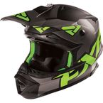 Matte Charcoal/Green Blade Clutch Solid Helmet - 15405