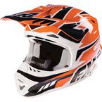 Orange Blade Race Snell Helmet - 15404