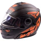 Matte Orange Fuel Modular Helmet with Electric Shield - 16410