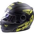 Matte Hi-Vis Fuel Modular Helmet with Electric Shield - 16410