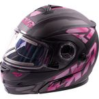 Matte Fuchsia Fuel Modular Helmet with Electric Shield - 16410