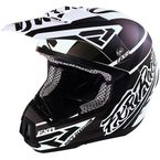 Matte Black/White Torque Commando Helmet - 16415