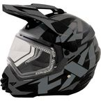 Matte Black/Charcoal Torque X Core Helmet with Electric Shield - 16413