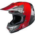 Red/Gray/Silver CL-X7 Cross-Up MC-1 Helmet - 57-1416