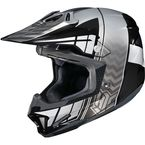 Black/Gray/Silver CL-X7 Cross-Up MC-5 Helmet - 57-1456