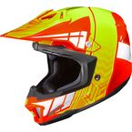 Orange/Hi-Viz Yellow/White CL-X7 Cross-Up MC-6 Helmet - 57-1464