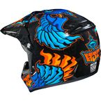 Youth  Blue/Black/Orange CL-XY 2 Eye Fly MC-2 Helmet - 0865-1002-56