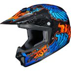 Youth  Blue/Black/Orange CL-XY 2 Eye Fly MC-2 Helmet - 57-5026