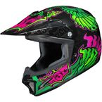 Youth Green/Black/Pink CL-XY 2 Eye Fly MC-4 Helmet - 0865-1004-56