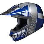 Youth Blue/Gray/Silver CL-XY 2 Cross-Up MC-2 Helmet - 0865-2102-56