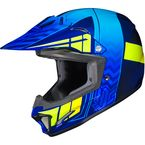 Youth Blue/Neon Green CL-XY 2 Cross-Up MC-2H Helmet - 286-722