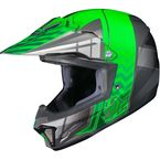 Youth Green/Gray/Silver CL-XY 2 Cross-Up MC-4 Helmet - 57-4944