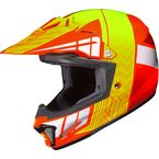 Youth Orange/Neon Green CL-XY 2 Cross-Up MC-6 Helmet - 0865-2106-56