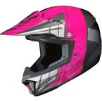 Youth Neon Pink/Gray/Silver CL-XY 2 Cross-Up MC-8 Helmet - 57-4986