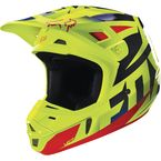 Blue/Yellow Race V2 Helmet - 14403-026-L