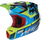 Blue/Yellow Divizion V3 Helmet - 14986-026-L