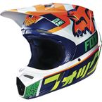Orange/Blue Divizion V3 Helmet - 14986-592-L