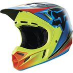 Blue/Yellow Race V4 Helmet - 15174-026-L