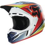 Blue/Red Race V4 Helmet - 15174-149-L
