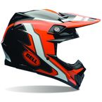 Orange/Black Moto-9 Carbon Flex Factory Helmet - 7069263