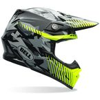 Yellow/Gray/Black Moto-9 Camo Helmet - 7069317