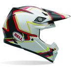 Moto-9 Black/White/Red Yellow Pace Helmet - 7069296
