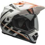 Orange/White Raid MX-9 Adventure Helmet - 7069352