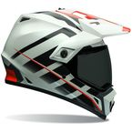 Orange/White Raid MX-9 Adventure Helmet - 7069353