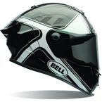 Gloss Black/White Tracer Race Star Helmet - 7069641