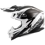 White/Black VX-35 Krush Helmet - 35-1825