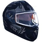 Matte Black Tranz RSV Blast Mat Modular Snow Helmet w/Electric Shield - 104224