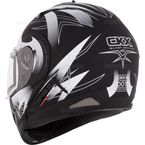 Matte Black/White Tranz RSV Blast Mat Modular Snow Helmet w/Electric Shield - 104674
