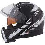 Black/White Tranz 1.5 RSV Slash Modular Snow Helmet w/Electric Shield - 501484