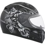 Youth Gray RR601 Mecanic Snow Helmet - 503477
