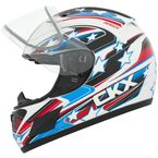 Youth White/Blue RR601 Hero Snow Helmet - 503503