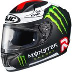 Black/White/Red/Green RPHA 10 Pro MC-1F Lorenzo/Monster Replica III Helmet - 0801-2631-08