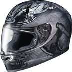 Gray/Black FG-17 MC-5F Valhalla Helmet - 0817-1835-06
