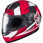 Youth Red/White/Black CL-Y  MC-1 Striker Helmet - 55-2016