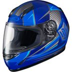 Youth Blue/Gray CL-Y MC-2 Striker Helmet - 55-2026