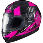 Youth Neon Pink/Black CL-Y MC-8 Striker Helmet - 55-2086