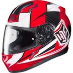 Red/White CL-17 MC-1 Striker Helmet - 57-9316