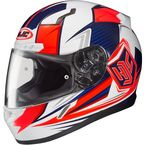 White/Red/Blue CL-17 MC-1H Striker Helmet - 834-703