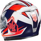 White/Red/Blue CL-17 MC-1H Striker Helmet - 0851-1531-06