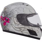 Youth White/Pink RR601 Mad Bee Snow Helmet - 183853