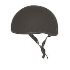 Matte Black Mikro Old School Helmet - Z88-00713
