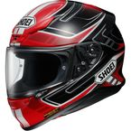 Red/Black/White RF-1200 Valkyrie TC-10 Helmet - 0109-2310-04