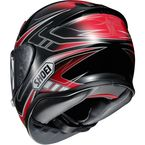 Red/Black/White RF-1200 Valkyrie TC-10 Helmet - 0109-2310-06