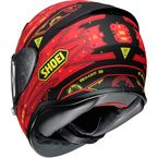 Red/Black/Yellow RF-1200 Vessel TC-1 Helmet - 0109-2401-06