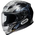 Black/White/Gray RF-1200 Diabolic TC-5 Helmet - 0109-2605-06
